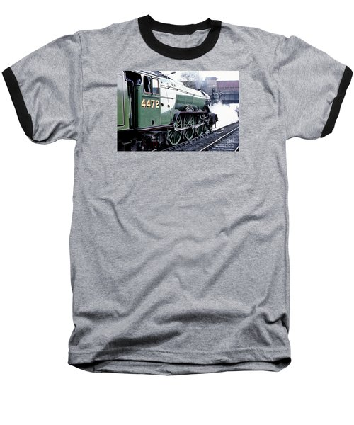 Flying Scotsman Locomotive Baseball T-Shirt
