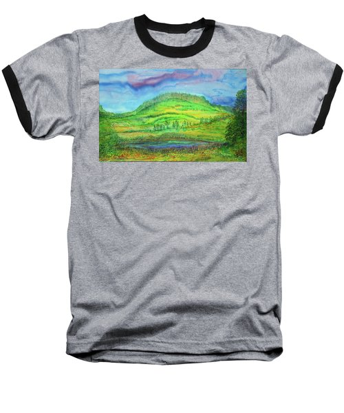 Baseball T-Shirt featuring the painting Flying Solo by Susan D Moody