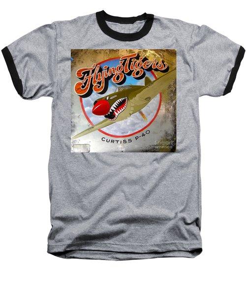 Flying Tigers Baseball T-Shirt by Alan Johnson