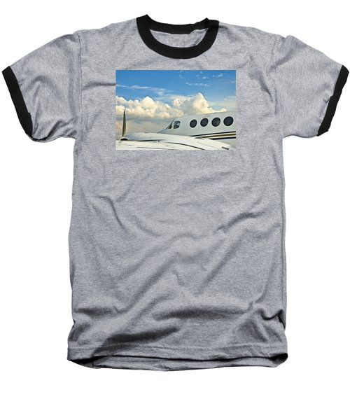 Baseball T-Shirt featuring the photograph Flying Time by Carolyn Marshall