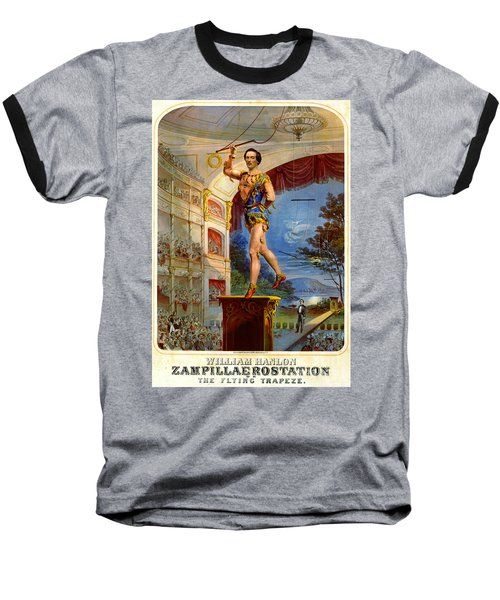Baseball T-Shirt featuring the photograph Flying Trapeze 1850 by Padre Art