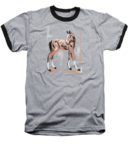 Foal Peach Baseball T-Shirt