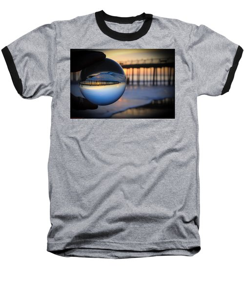 Baseball T-Shirt featuring the photograph Foamy Ball by Lora Lee Chapman