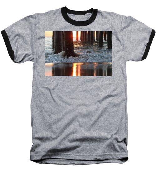 Foamy Waters Under The Pier Baseball T-Shirt