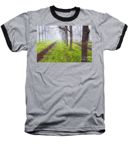 Fog And Orchard Baseball T-Shirt