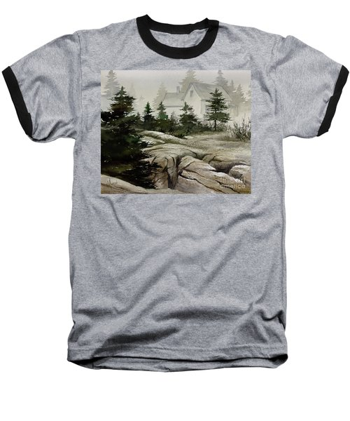 Baseball T-Shirt featuring the painting Fog At The Coast by James Williamson