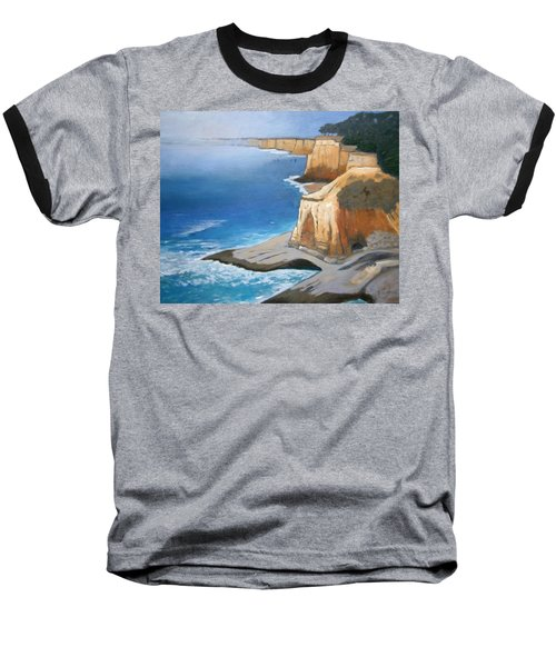 Baseball T-Shirt featuring the painting Fog Burning Off by Gary Coleman