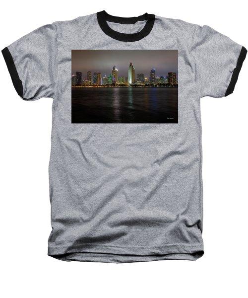 Fog Glow Over San Diego Baseball T-Shirt