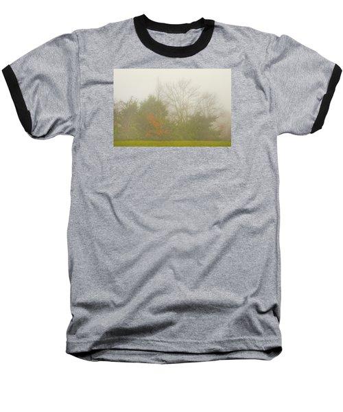 Baseball T-Shirt featuring the photograph Fog In Autumn by Wanda Krack