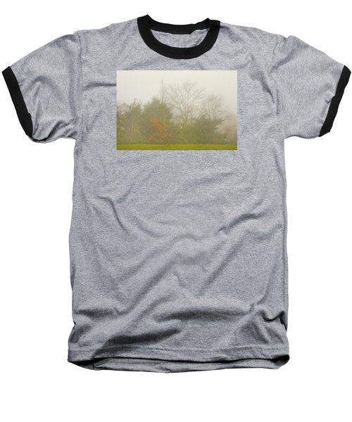 Fog In Autumn Baseball T-Shirt