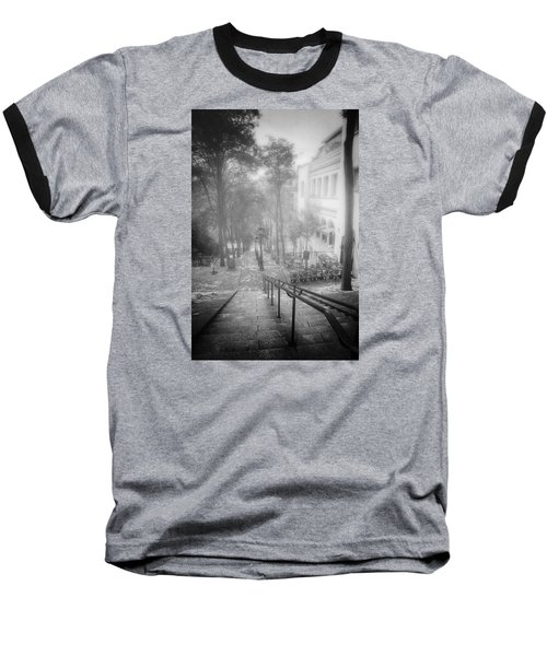 Fog In Montmartre Baseball T-Shirt by John Rivera