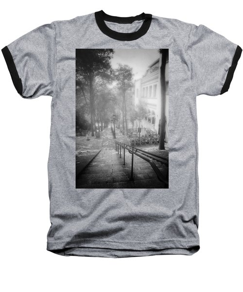 Fog In Montmartre Baseball T-Shirt