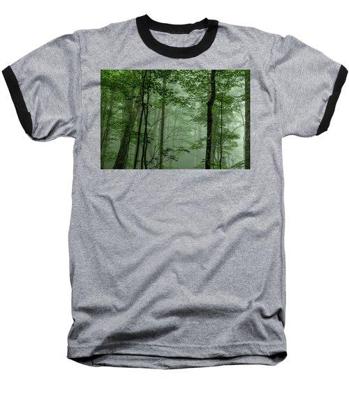 Fog In The Forest Baseball T-Shirt