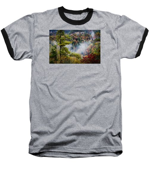 Fog In The Valley Baseball T-Shirt by Diana Boyd