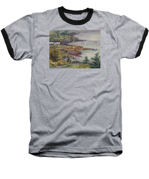 Fog Lifting Baseball T-Shirt by Jane Thorpe