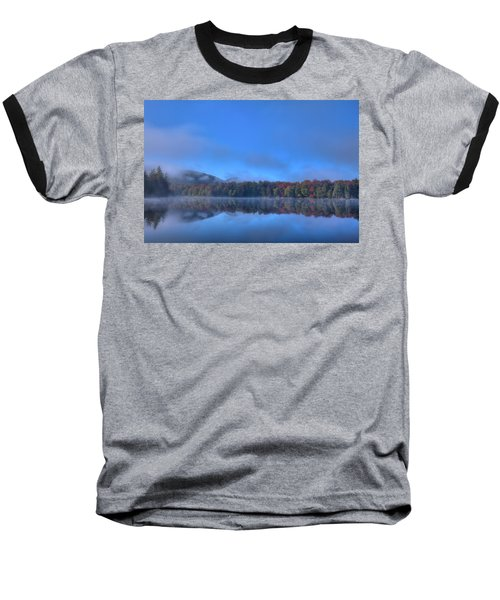 Baseball T-Shirt featuring the photograph Fog Lifting On West Lake by David Patterson