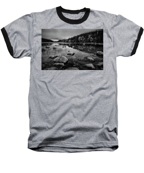 Fog On Bubble Pond Baseball T-Shirt