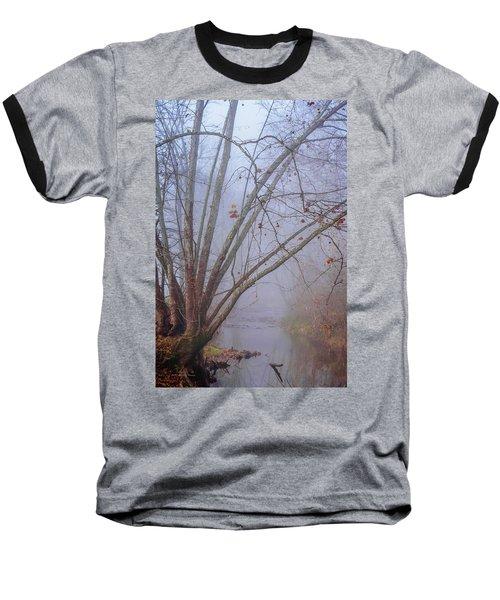 Fog On Buffalo Creek 1 Baseball T-Shirt
