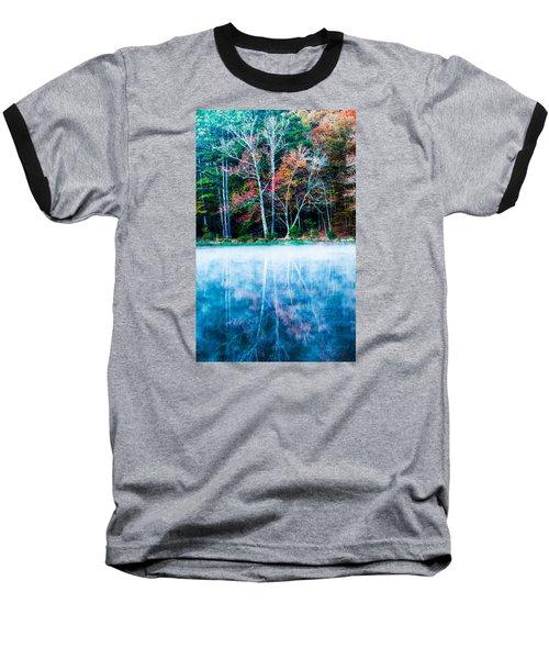 Fog On The Lake Baseball T-Shirt by Parker Cunningham