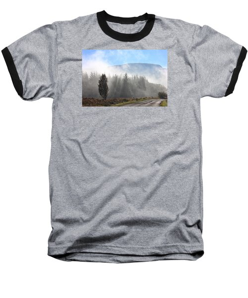 Fog On The Road To Fintry Baseball T-Shirt