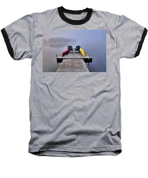 Baseball T-Shirt featuring the photograph Fog On West Lake by David Patterson