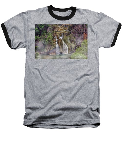 Fog Rolling In Baseball T-Shirt by Joan Bertucci
