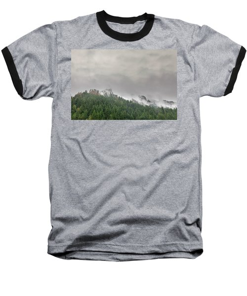 Fog Rolling Over Columbia River Gorge Baseball T-Shirt