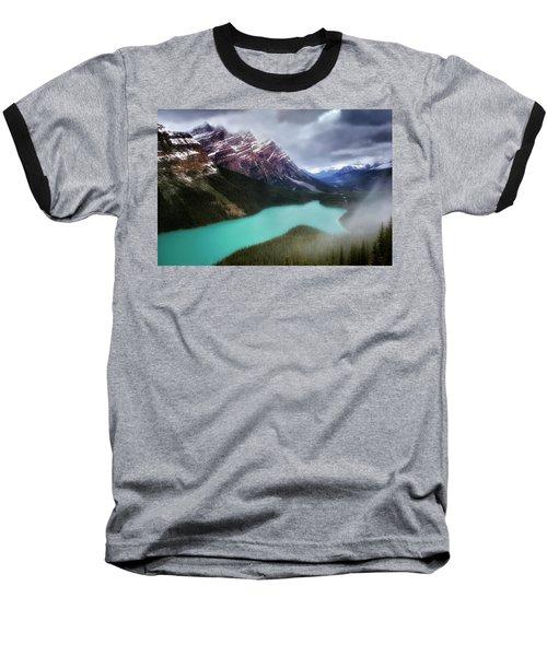 Fog Swirls Baseball T-Shirt by Nicki Frates