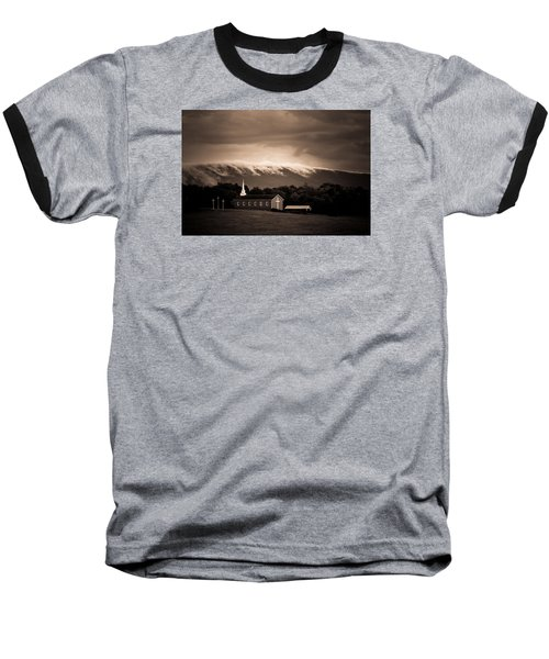 Baseball T-Shirt featuring the photograph Fog Tendrils by Carlee Ojeda