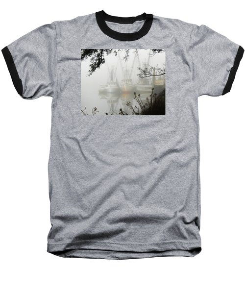 Fogged In Baseball T-Shirt by Deborah Smith
