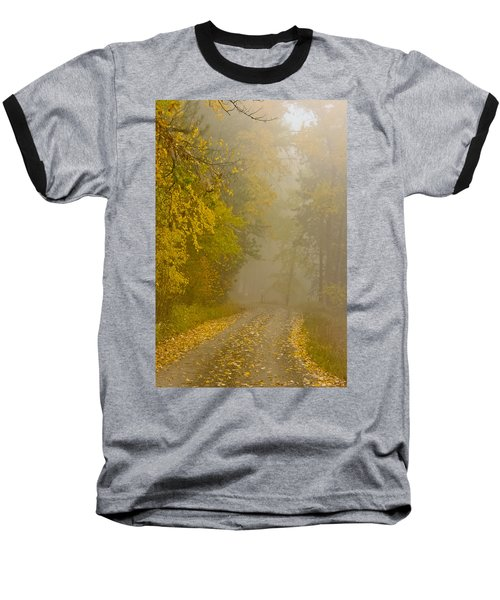 Foggy Autumn Morn Baseball T-Shirt