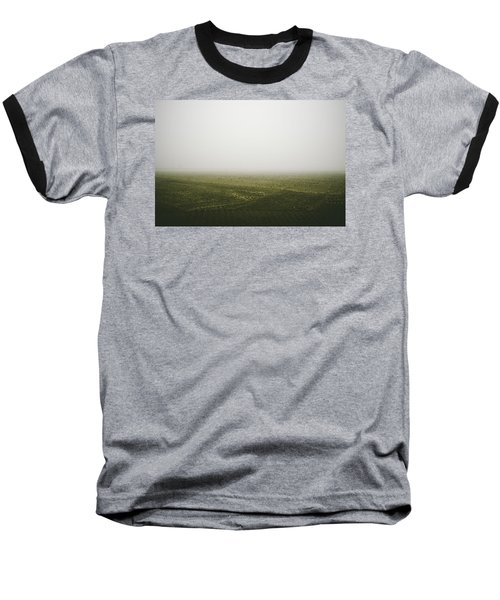Foggy Autumn Morning Baseball T-Shirt