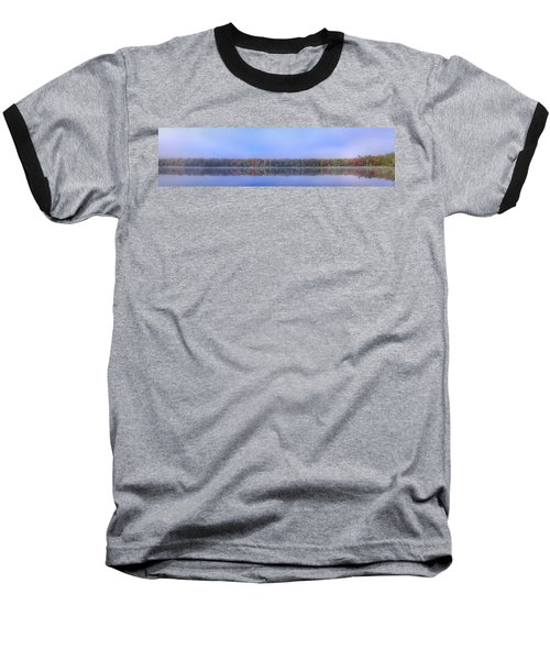 Baseball T-Shirt featuring the photograph Foggy Autumn Panorama by David Patterson