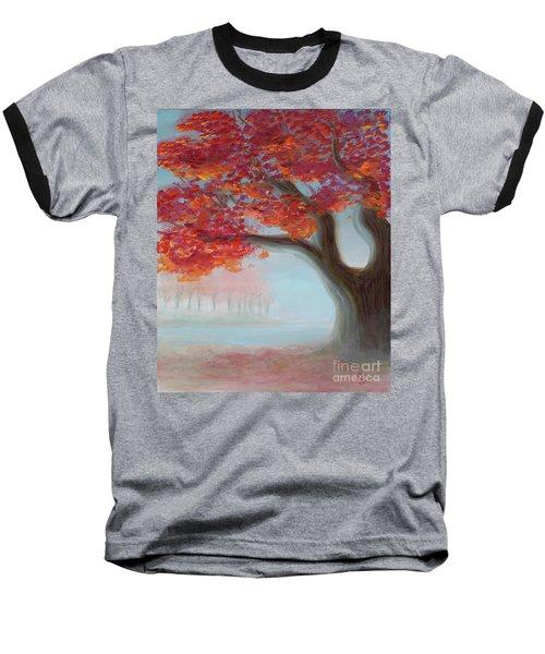 Foggy Autumn Baseball T-Shirt