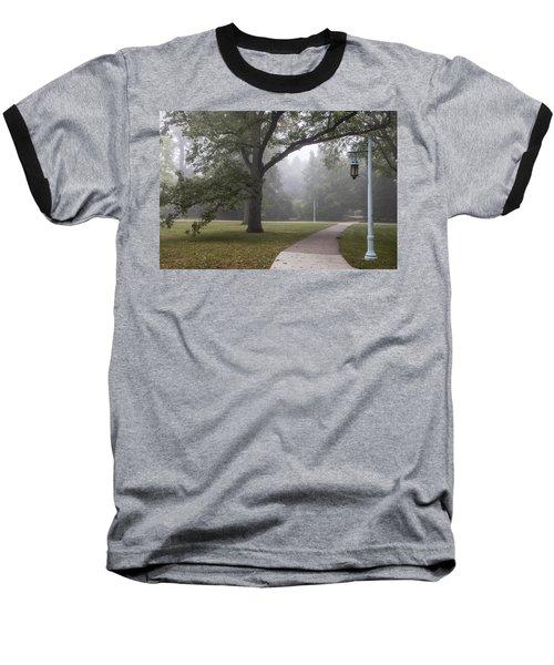 Foggy Campus  Baseball T-Shirt