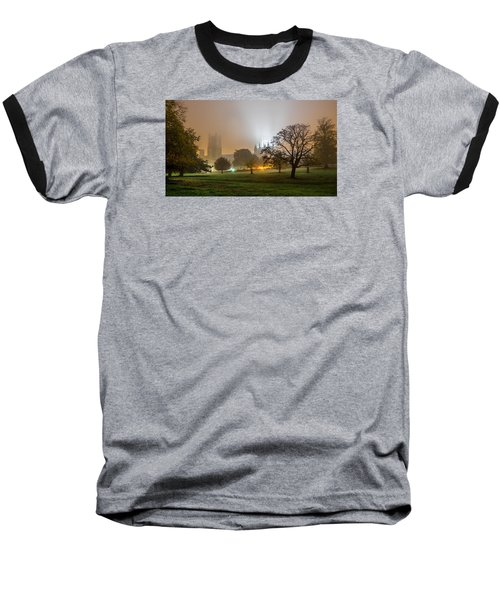 Foggy Cathedral Baseball T-Shirt