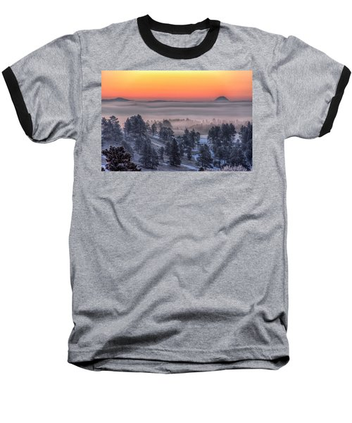 Foggy Dawn Baseball T-Shirt