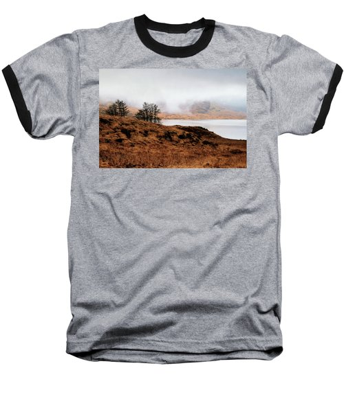 Foggy Day At Loch Arklet Baseball T-Shirt by Jeremy Lavender Photography