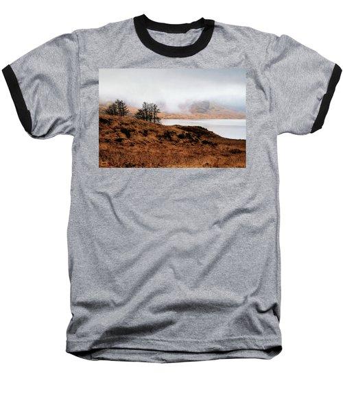 Foggy Day At Loch Arklet Baseball T-Shirt