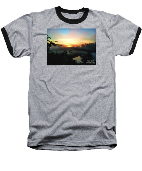Foggy Edges Sunrise Baseball T-Shirt