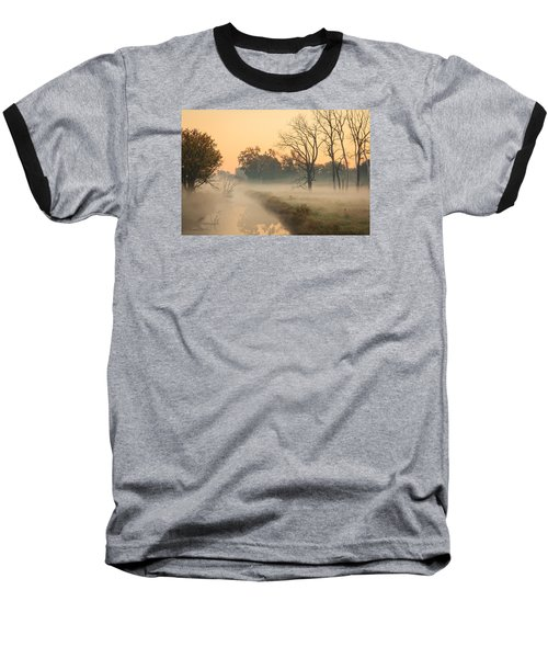 Foggy Fall Morning On Gary Avenue Baseball T-Shirt