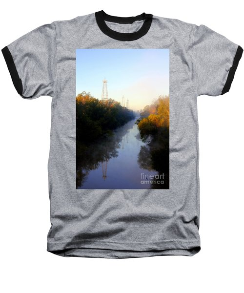Foggy Fall Morning On The Sabine River Baseball T-Shirt