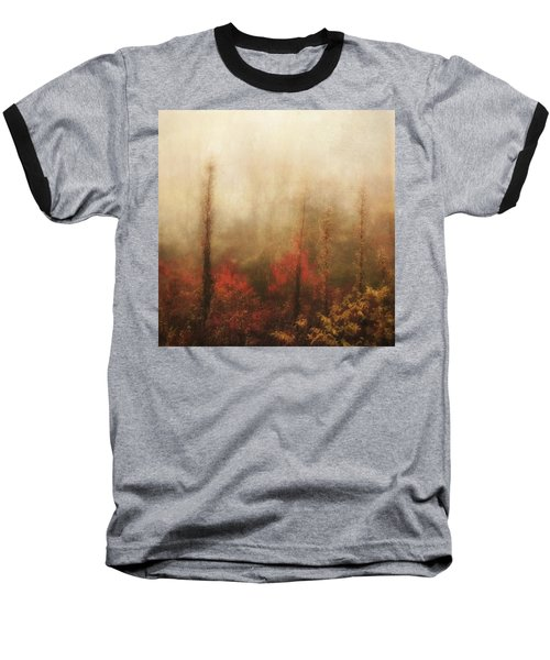 Foggy Fall On The Parkway Baseball T-Shirt
