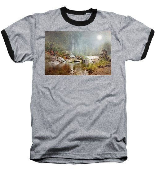 Foggy Fishin Hole Baseball T-Shirt