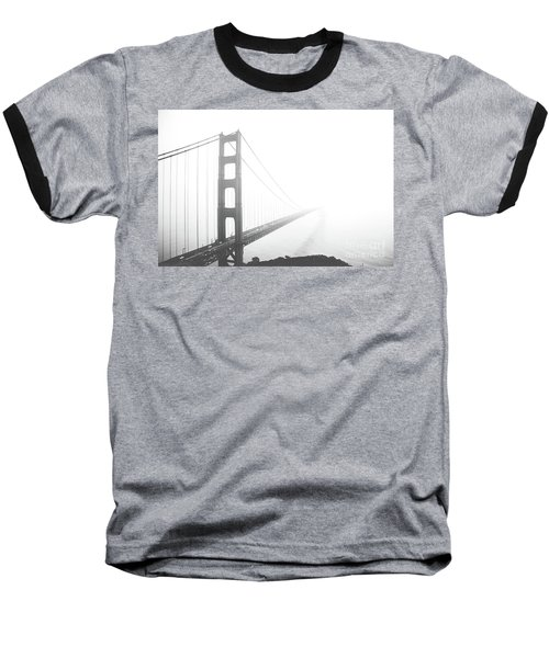 Baseball T-Shirt featuring the photograph Foggy Golden Gate Bridge  by MGL Meiklejohn Graphics Licensing