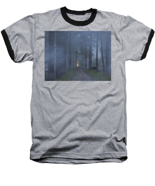 Foggy Hallowed Ground Baseball T-Shirt
