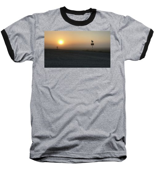 Baseball T-Shirt featuring the photograph Foggy Hawkeye Sunrise  by Jame Hayes
