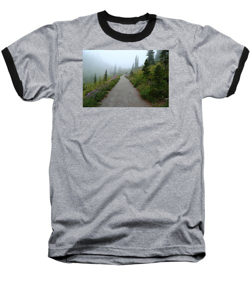 Baseball T-Shirt featuring the photograph Foggy In Paradise by Lynn Hopwood