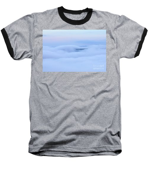 Baseball T-Shirt featuring the photograph Foggy Layers by Kerri Farley