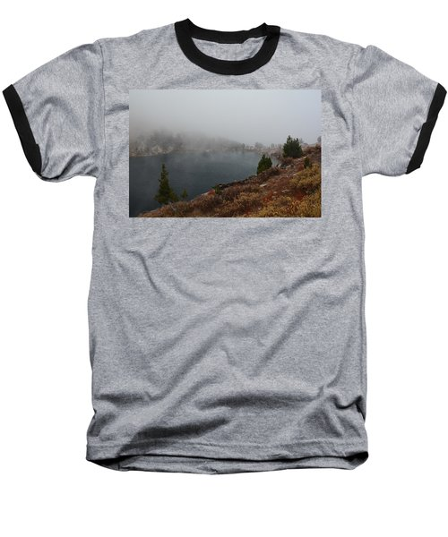 Baseball T-Shirt featuring the photograph Foggy Liberty Lake by Jenessa Rahn